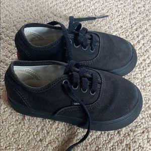Vans Toddler Black/Black 7.5 EUC